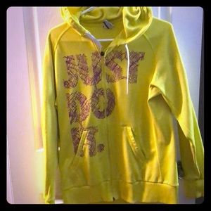 Nike zip up. Neon yellow and fuschia